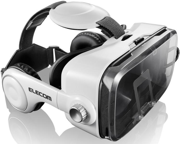 VRゴーグル/オーバーヘッドホン一体型/ホワイト