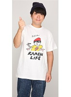 RAMEN LIFE Tシャツ(赤・サイズL)
