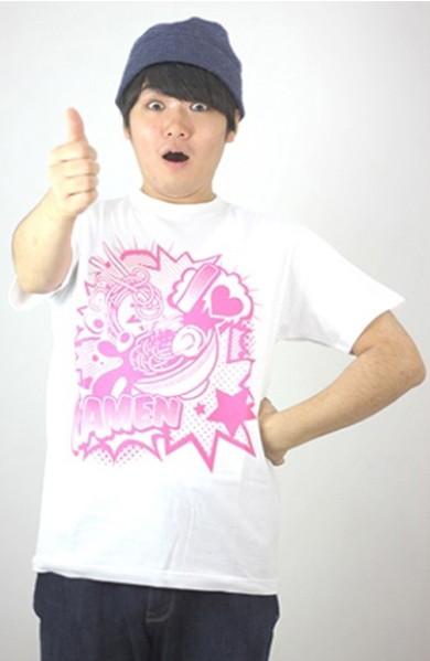 I Love ラーメンTシャツ(白・サイズS)