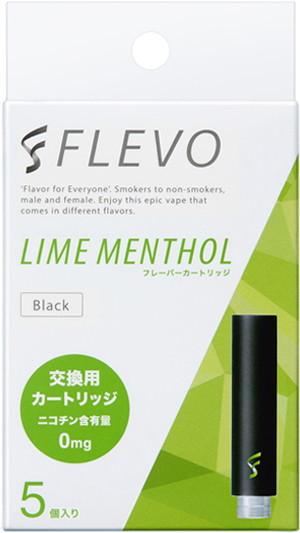 【電子タバコスタイル】FLEVO ライムメンソール フレーバーカートリッジ [ブラック]