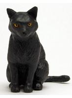 黒猫(座り)『1/12 和ねこ』フィギュア