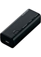 無線ポータブルルーター親機/コンパクト/300Mbps/ブラック/ACアダプタ付属