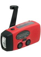 デメテル 手回しソーラーUSB充電ラジオ DMT199029