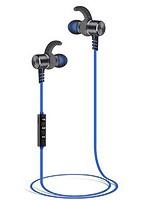 E-SELECT Bluetoothイヤホン マグネットで ON/OFFできる マルチポイント(2台) 対応のワイヤレスイヤホン (ガンメタリック+ブルー) ES-MGS2BTGB