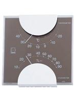 EMPEX 温度・湿度計 エルムカラー スクエア型 置き掛け兼用 LV-4957 グレー
