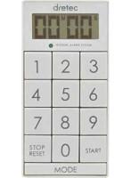 DRETEC キッチンタイマー 光と音で時間をお知らせ デジタルタイマー スリムキューブ T-520WT