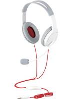 ゲーム向け/4極/両耳オーバーヘット/1.0m/1.5m延長ケーブル付/PS4/Switch対応/ホワイト
