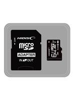 HIDISC microSDHCカード 64GB CLASS10 UHS-1対応 高速転送 Read80 SD変換アダプタ付き HDMCSDX64GCL10UIJP3