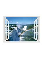 昭プラ お風呂のポスター 世界遺産 イグアスの滝 8100443