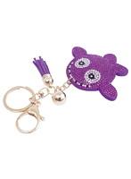 クジラッキー デコレーションキーホルダー 紫(全4色)