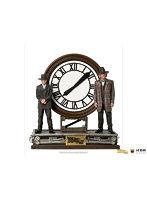 『バック・トゥ・ザ・フューチャー PART3』【アイアン・スタジオ スタチュー】「デラックス・アートスケール」1/10スケール マーティ・マクフライ&エメット・ブラウン博士(大時計)