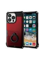 iPhone 6.1inch 3眼/ハイブリッドケース/ZEROSHOCK/リング付き/レッド