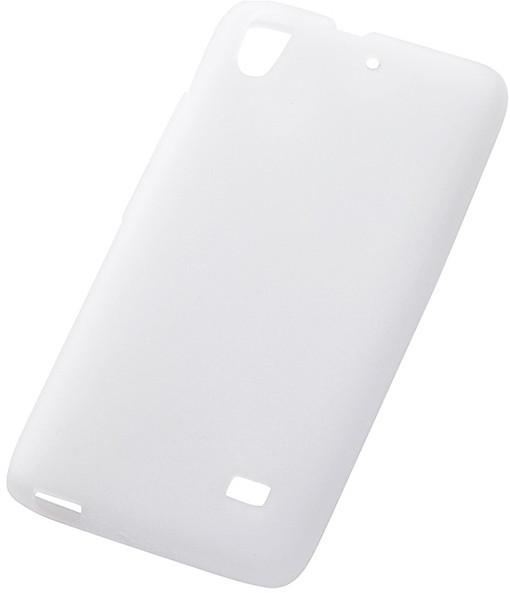 Ascend G620S対応 シルキータッチ・シリコンジャケット ホワイト(半透明)