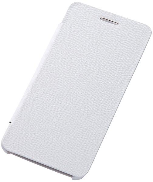 Ascend G620S対応 スリム・レザージャケット(合皮タイプ) ホワイト