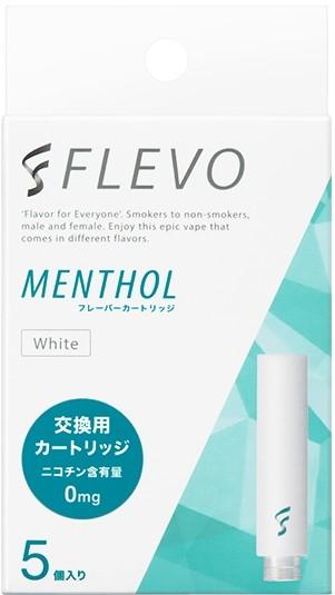 【電子タバコスタイル】FLEVO メンソール フレーバーカートリッジ [ホワイト] (5個入り)