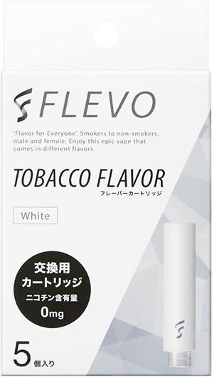 【電子タバコ】FLEVO タバコフレーバー フレーバーカートリッジ [ホワイト] (5個入り)