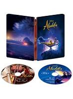アラジン 4K UHD MovieNEX スチールブック (数量限定 4K ULTRA HD+ブルーレイ+デジタルコピー(クラウド対応)+MovieNEXワールド)
