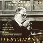 ベートーヴェン;交響曲第4番/序曲「コリオラン」/シューベルト;交響曲第8番「未完成」 クレンペラー/VPO(アルバム)