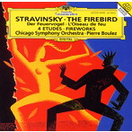 ストラヴィンスキー:バレエ「火の鳥」/幻想曲「花火」/管弦楽のための4つの練習曲 ブーレーズ/CSO(SHM-CD)(アルバム)