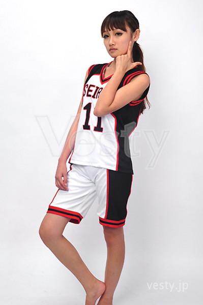 黒子のバスケ 誠凛高校バスケットボール部ユニフォーム風コスチューム 【男性Mサイズ】