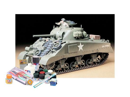 プラモデル制作セット 1/35スケール アメリカ M4シャーマン戦車 (初期型)