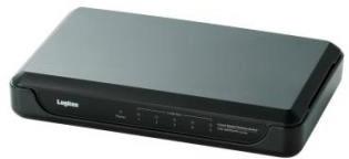 ロジテック ギガビットイーサHUB/5ポート/電源外付け/プラスチック/ブラック LAN-GSW05/PHB