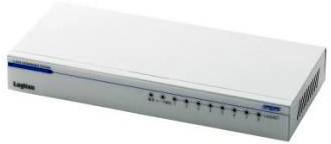 ロジテック ギガビットイーサHUB/8ポート/電源内蔵/メタル/50℃対応 LAN-GSW08P/HGW