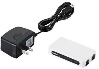ロジテック イーサネットHUB/超小型/電源外付け/ACアダプタ付/3ポート/ホワイト LAN-SW03/PSW