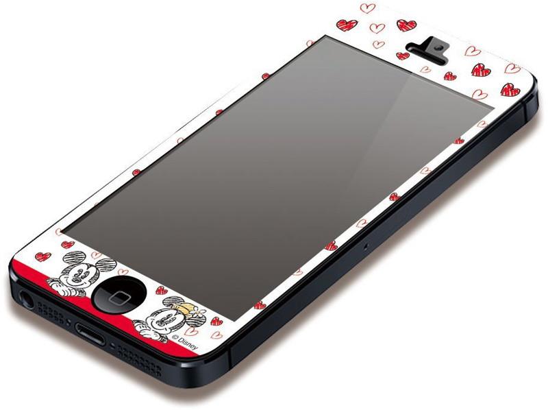 PGA iPhone5対応 ディズニー 気泡が入らない液晶保護フィルム ミッキー&ミニー PG-DNYZR050MM