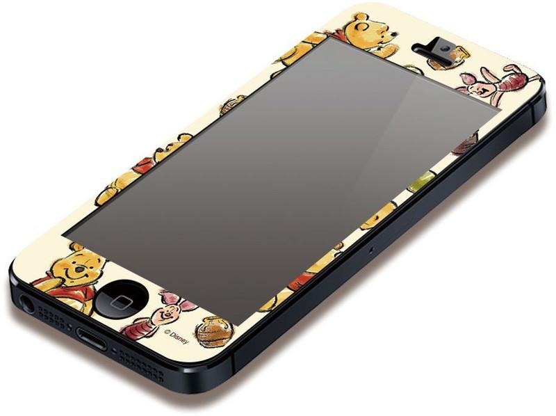PGA iPhone5対応 ディズニー 気泡が入らない液晶保護フィルム くまのプーさん PG-DNYZR052POO
