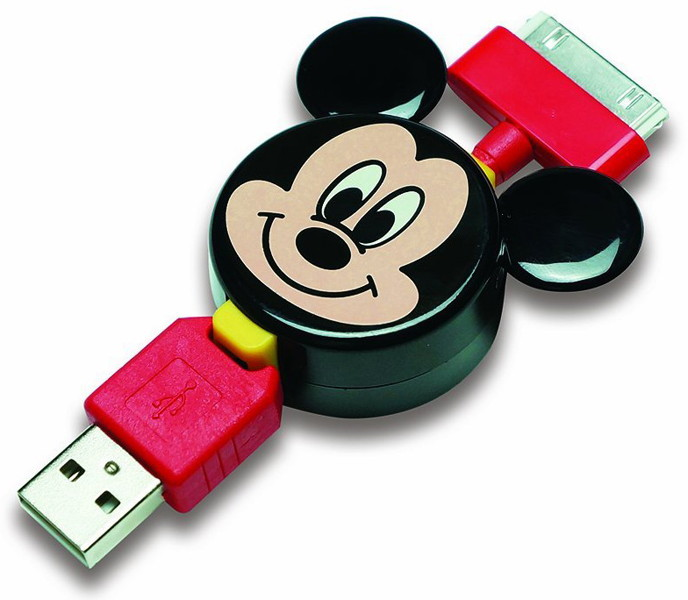 PGA Disney iPhone iPod用巻き取り式充電ケーブル ミッキーマウス PG-DMYJU559MKY