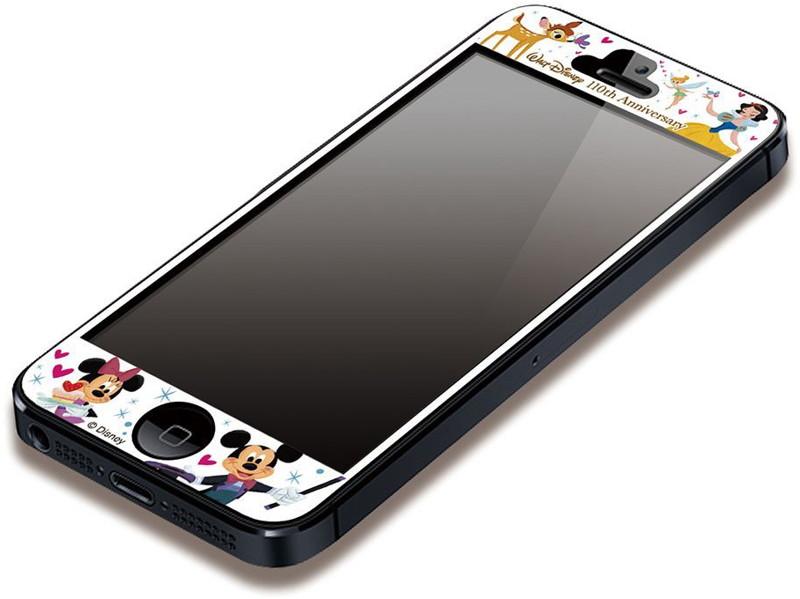 PGA iPhone5対応 ディズニー110周年 気泡が入らない液晶保護フィルム セレブレーション PG-DNYZR106CEL