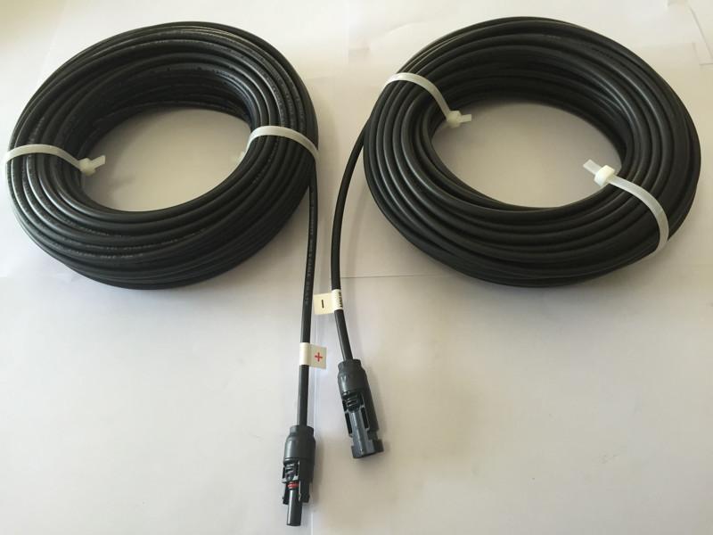 太陽光発電用 1000V対応PVケーブル 4sq片側MC4コネクタDCケーブル 30M