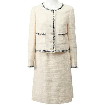 ハロッズ スカートスーツ ホワイト