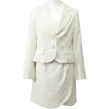レッセパッセ スカートスーツ ホワイト