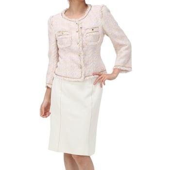 エポカ スカートスーツ ピンク