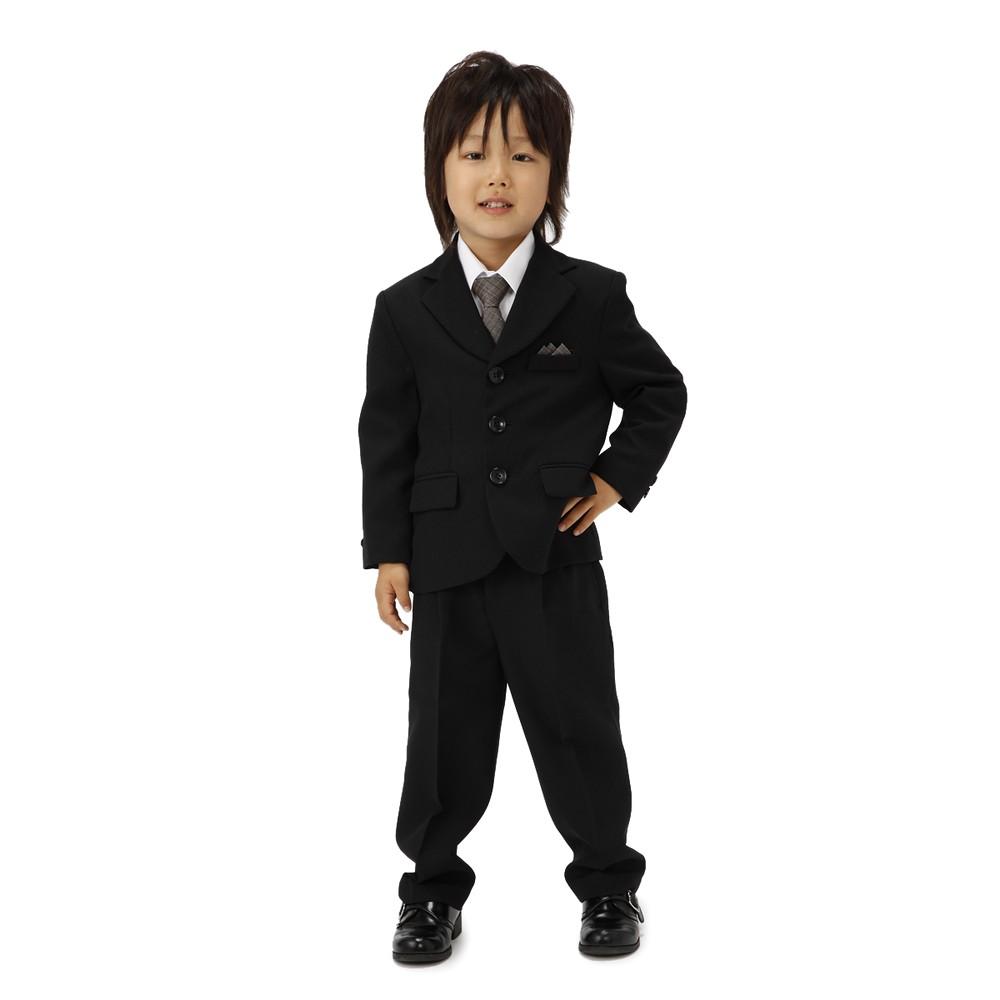 [iteminfo_actress_name] メンズファッションレンタル、スーツ、キッズ、ブラック 【キッズ】 フォーマル スーツセット ブラック