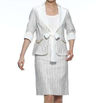PAOLA FRANI スカートスーツ ホワイト