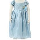 【ベビー】 クロスライン ロングドレス ブルー