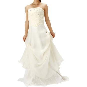 ビッグフラワーロングドレス ホワイト