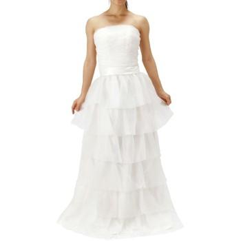 ティアードフリルロングドレス ホワイト