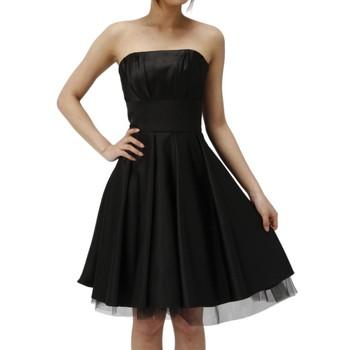 Annan 後ろリボン ベアトップミニドレス ブラック
