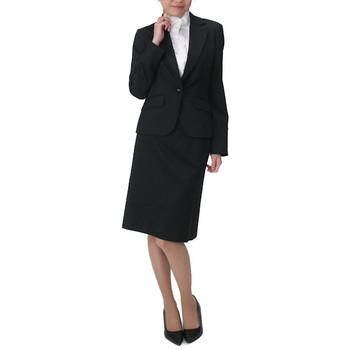 f-mode パンツ&スカートスーツ ブラック