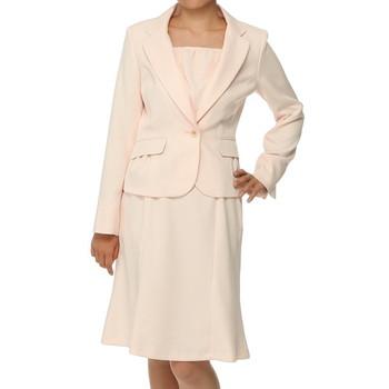 f-mode ベーシック セットアップ スカートスーツ ピンク