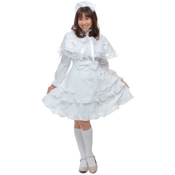 ロリータ系メイド服 スノーホワイト