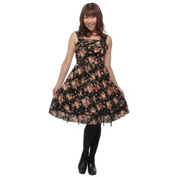 Cream doll ブラックブルーム ロリータジャンパースカート