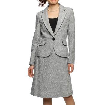 【選べる3点セット】f-mode スカートスーツ グレー