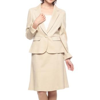 WHITE JOOLA テーラードジャケット スカートスーツ ベージュ