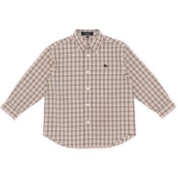 【まとめ借り割引商品】バーバリー ワンポイント刺繍 チェック柄 長袖シャツ