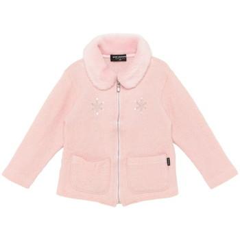 【まとめ借り割引商品】ポンポネット 雪の結晶 ラメ入り ふわふわ襟 パーカー ピンク
